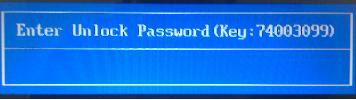 acer 8 digits enter unlock password key