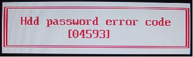 acer hdd password error code