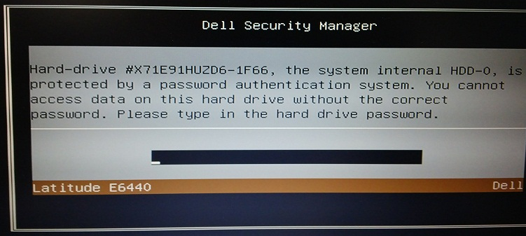 Dell Latitude E6540 master password