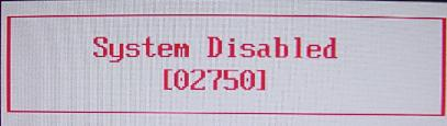Dell Inspiron E1505 System Disabled master password